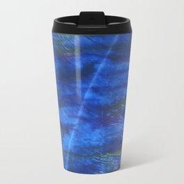 Indigo abstract watercolor background Travel Mug