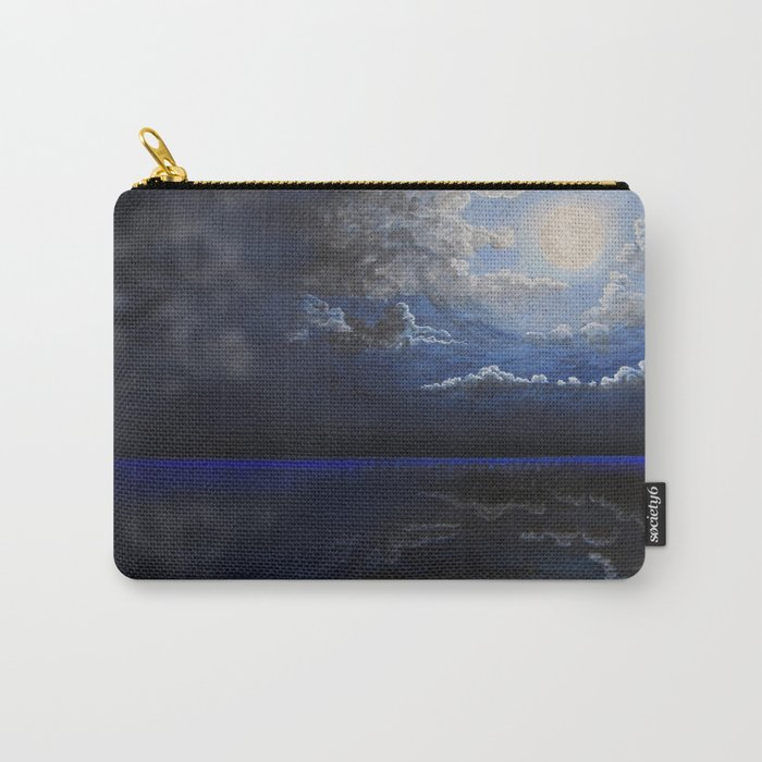 black sea and moon Carry-All Pouch