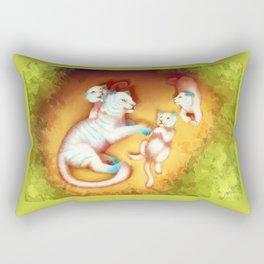 With Mom Rectangular Pillow