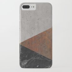 Concrete, rusted iron, marble abstract iPhone 8 Plus Slim Case