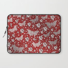 silver, red,flowers, stars, butterfly, pattern, bright, shiny, elegant, color Laptop Sleeve