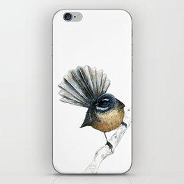 Mr Pīwakawaka, New Zealand native bird fantail iPhone Skin
