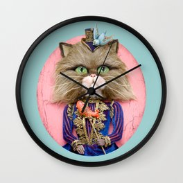 Rich Pussy Wall Clock