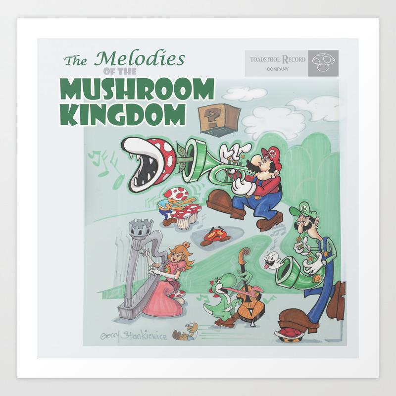 Super Mario Melodies Of The Mushroom Kingdom Record Cover Design