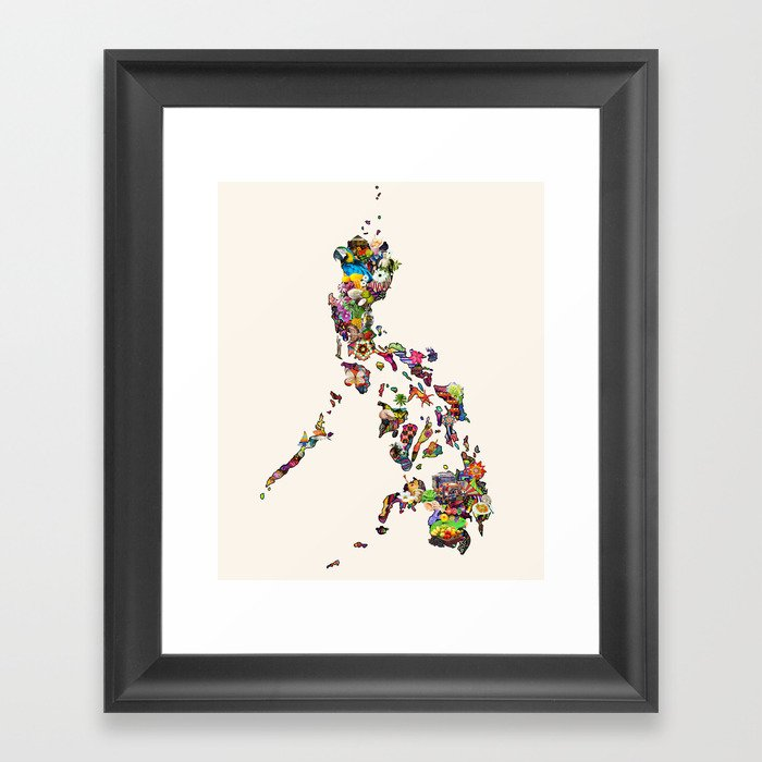 7,107 Islands | A Map of the Philippines Gerahmter Kunstdruck
