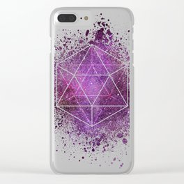 d20 Icosahedron Crystal Wind Clear iPhone Case