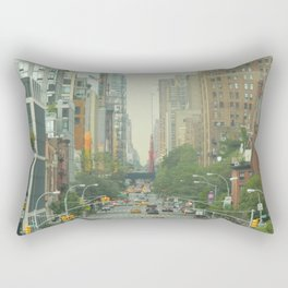 New York City - Down The Avenue Rectangular Pillow