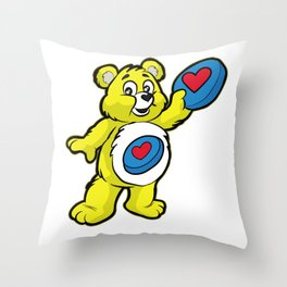 Ultimate FRISBEE TEDDY BEAR Catch funny Throw Pillow