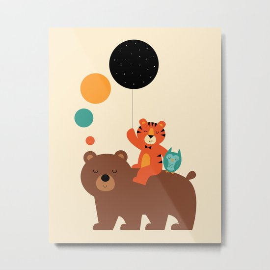 My Little Explorer Metal Print