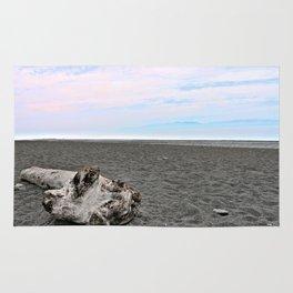 Black Sand Color Sky Rug