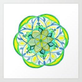 Fairy Garden Mandala Art Print