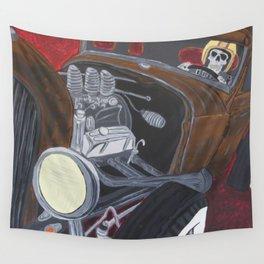 Rat Rod Racer Wall Tapestry