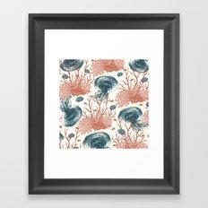 Aquatic Pattern Framed Art Print