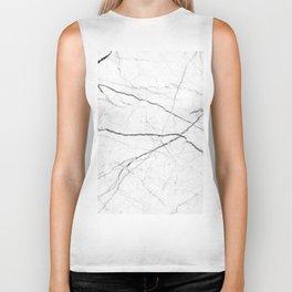 preppy minimalist modern chic grey white marble Biker Tank