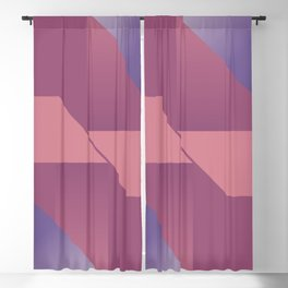 Berry Geo Cocktail - Mid Century Modern Abstract Shapes Blackout Curtain