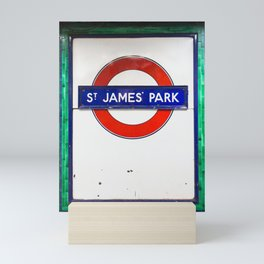St James Park Tube Sign Mini Art Print