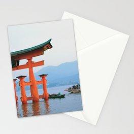 Floating torii gate at Miyajima in Japan Stationery Cards