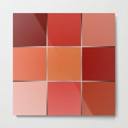 Squares , patchwork 6 Metal Print