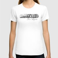 hollywood T-shirts featuring Hollywood by KitschyPopShop