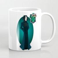snape Mugs featuring Severus Snape by Zeynep Aktaş
