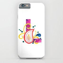 Paisley monogram letter L iPhone Case