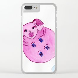 Pig In The Sky Clear iPhone Case