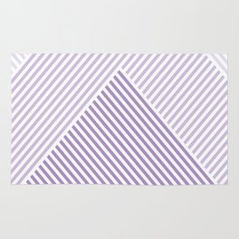 Shades of Purple Abstract geometric pattern Rug