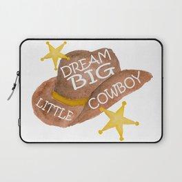 Watercolor Dream Big Little Cowboy Laptop Sleeve