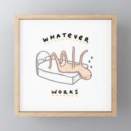 Honest Blob - Whatever Works Framed Mini Art Print