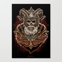 viking Canvas Prints featuring VIKING by Demones