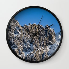 Fresh Snow-Alaskan Mountain Top Wall Clock