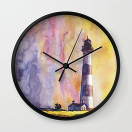 Bodie Island lighthouse at sunset in the Outer Banks (OBX) of North Wall Clock
