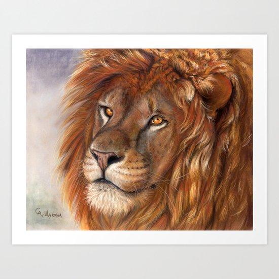 Lion- the King Art Print