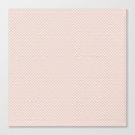 Modern pastel brown white elegant lace pattern Canvas Print