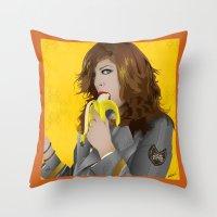 mac Throw Pillows featuring Mac Gie by Edu Gerbi
