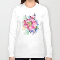 cherry blossom Long Sleeve T-shirts featuring Cherry Blossom by A cup of grey tea