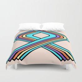 Geometric Rainbow Duvet Cover