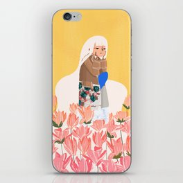 Waiting in bunk of flowers iPhone Skin