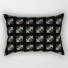 Fleur de lis ...gold, black, white Rectangular Pillow