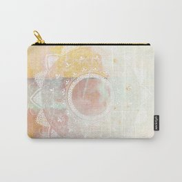 Precious white mandala on pink Carry-All Pouch