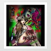 Zombie Dinosaurs Awakening issue 1 Cover Art Print