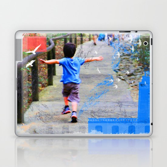 learning to fly 02 Laptop & iPad Skin