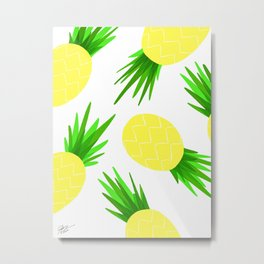 Pineapple Palooza Metal Print