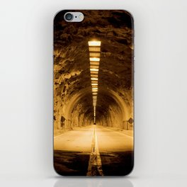 Late Hike Through Yosemite Tunnel iPhone Skin