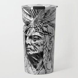 Chief / Vintage illustration redrawn and repurposed Travel Mug