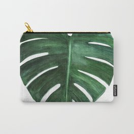 Watercolor Monstera leaf Carry-All Pouch
