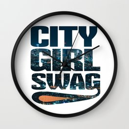 City Girl Swag Metropolitan Wall Clock
