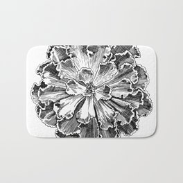 Echeveria engraving Bath Mat