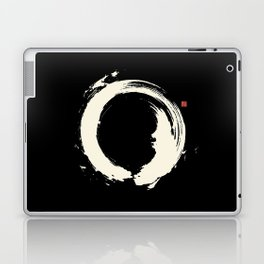 Black Enso / Japanese Zen Circle Laptop & iPad Skin
