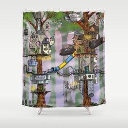 Modern Pixie Kingdom Shower Curtain